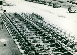 Dozens of Helicopters for Vietnam Vintage photograph 3435483 $17.90