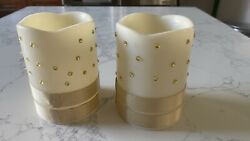 White Pillar Candle 3 Inch x 4 Inch Battery Powered White Candle Set $18.00