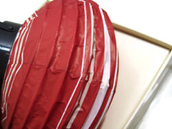 Pottery Barn Red White Stripes Round Paper Battery Operated Lantern 10quot; New $15.60