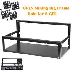 8 GPU Mining Frame Open Air Miner Rig Case Rack for Crypto Coin Currency Mining $69.96