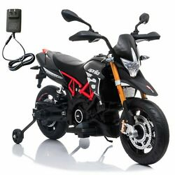 Aprilia Licensed 12V Kids Ride on Motorcycle Electric Toy W Training Wheel $138.99
