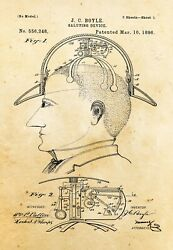 9682.Decoration Poster.Home vintage Room wall art.Patent antique saluting hat $75.00