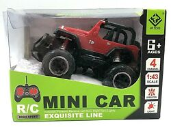 Rock Crawler RC Mini Car Exquisite Line 4 Channel 1:43 Scale Lights YP Toys NEW $13.49