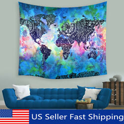 Indian Wrld Map Tapestry Hippie Wall Hanging Living Rm Bedrm rt Hme $7.13
