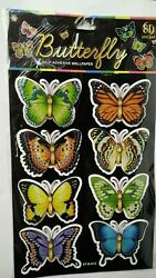 3D PVC Kids Room Wall Decorations Multicolor Butterfly Home Decor Sticker Card $3.69