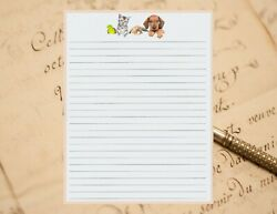 Cute Pets Lined Stationery 8.5quot; X 11quot; 25 Sheets and 10 Color Envelopes $14.95