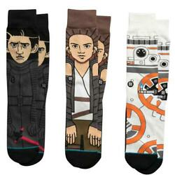 NWT STANCE STAR WAR GIFT THE FORCE AWAKENS ONE 3 PACK SOCKS SIZE LARGE L 60.00 $39.99