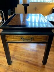 Vintage Century Furniture Co Chin Hua Burl Wood End Side Table $150.00