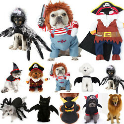 Pet For Dog Cat Bat Clothes Party Fancy Dress Halloween Cosplay Funny Costumes $9.59