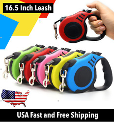 16.5 ft Automatic Retractable Dog Leash Pet Collar Automatic Walking Lead Free $9.93