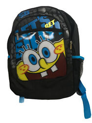 Nickelodeon Sponge Bob 10quot; Small Backpack Easy to Clean Fabric $11.99