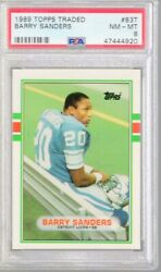 *GB* 1989 Topps Traded Barry Sanders Rc #83T PSA 8 $37.99