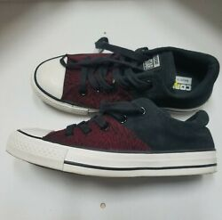 Converse All Star Womens Maroon Black Fashion Sneakers Size 6 $37.99