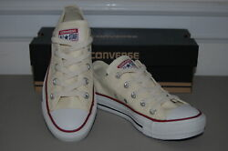 New CONVERSE ALL STAR Womens 5.5 Cream White Sneakers Shoes Chuck Taylor Low $29.99