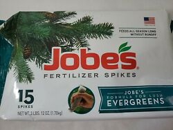 Jobes Fertilizer Spikes Formula For Lush Evergreens Made In USA 15 Spikes $15.00