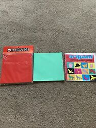Origami Japanese Paper Folding book and 100 plus sheets of paper $2.99