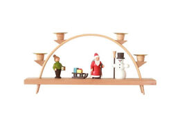 Candle Arches Christmas Chandelier Bow Erzgebirge 5 1 8in New Seiffen Christmas $53.21