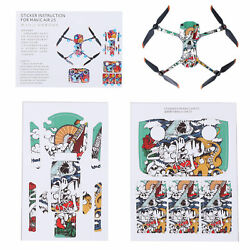 1 Pair PVC Stickers Drone Body Remote Control Protective Stickers Set for Drone $13.49