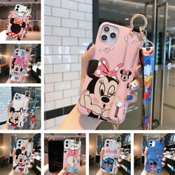 For iPhone 13 12 11 Pro Max XS XR Cover Cute Cartoon Back Case Stand Hand Strap $8.99