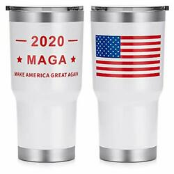 Trump Make America Great Again Outdoor Tumbler Double 30 oz White Upgraded $9.02