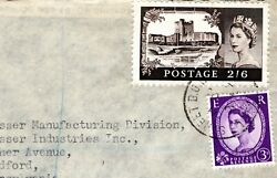 GB QEII Cover *CASTLE* 2s 6d Super Commercial Usage London USA Air Mail 1962 7.1