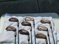 mizuno mp 60 RH 3 pw copper plated heads only antique brushed patina finish $700.00
