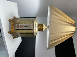 Wildwood porcelain and brass table lamp $200.00