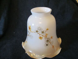 Vintage Light Replacement Globes White Creamy Glass flower Ruffled edge $7.00
