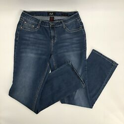 Earl Jeans Size 12 Womens Slim Boot Stretch Medium Wash Embroidery $16.00