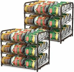 2 Pack Can Food Organizer Storage 72 Cans Holder Kitchen Cabinet Pantry Rack $36.99