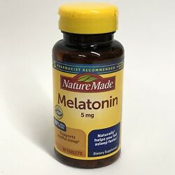 Nature Made Melatonin 5mg 90 Count Tablets for Supporting Restful Sleep EXP 2 23 $7.99