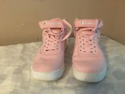 Champion High Top Wedge Sneakers Women's Size 8.5 Lace up Pink $17.00