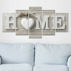 5Pcs Concise Fashion Wall Paintings Home Letter Printed Photo Wedding Art Decor $12.50