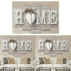 5Pcs Concise Fashion Wall Paintings Home Letter Printed Photo Art Wedding Decor $11.99