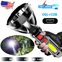 Super Bright LED Flashlight Tactical Hiking Camping Torch USB Rechargeable $9.69