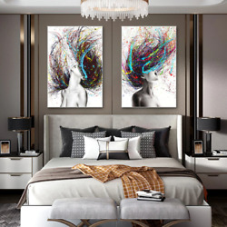 Abstract Wall Art Canvas Painting Figure Posters Pictures For Living Room Decor $8.99