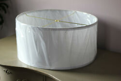 18quot; Lamps Plus Toby Lamp Shade White Fabric Spider Fitter Drum $49.95