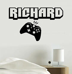 Video Game Decal Personalized Name or Gamer Tag Vinyl Sticker Wall Room Clip Art $13.48