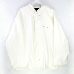 Grundens Commercial Clipper 82 Jacket Hooded White Commercial Fishing Rain Gear
