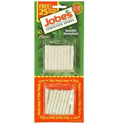 Jobe#x27;s Houseplant Plant Food Fertilizer Spikes 50 Pack Read Shipping $3.99