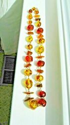 Amber Lucite 30 inch Bead Necklace $40.00