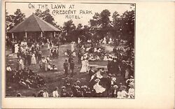Postcard RI On the Lawn at Crescent Park Hotel East Providence Rhode Island 1905 $14.98