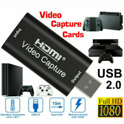 HDMI to USB 2.0 Video Capture Card HD 1080P Recorder Game Video Live Streaming $6.99