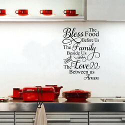 Kitchen Wall Sticker Bless The Food Before us Decal Wall Art Mural Home Decor $8.99