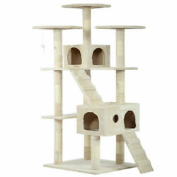 73quot; Cat Tree Scratcher Play House Condo Furniture Bed Post Pet House $16.99