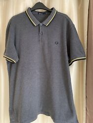 Genuine Men#x27;s Fred Perry Polo Size XL MOD Excellent Condition Grey GBP 18.75