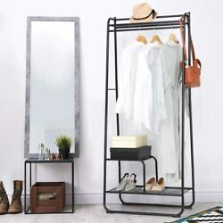 Garment Rack Clothes Rack with Shelves Heavy Duty Metal Bedroom Clothing Storage $39.99