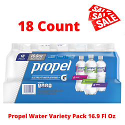 Propel Flavored Electrolyte Water Variety Pack 16.9 fl oz New 18 Bottles $13.95