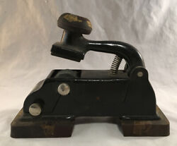 ANTIQUE RAILROAD TICKET DATER AGENT SEAL STAMP PRESS SAFETY FIRST $79.95