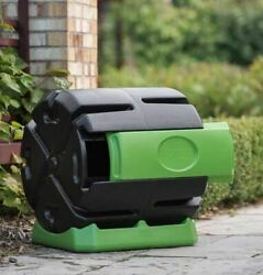 Hot Frog HF RC4000 WB 37 Gal. Recycled Plastic Compost Tumbler Black amp; Green $104.99